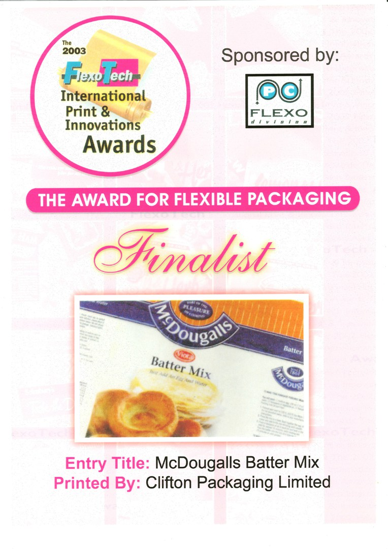 The 2003 FlexoTech International Print & Innovations Awards - The Awards for Flexible Packaging