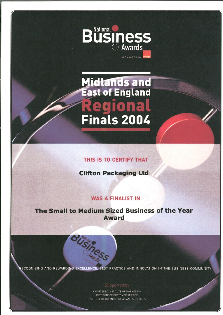 National Business Awards - Midlands and East of England Regional Finals 2004