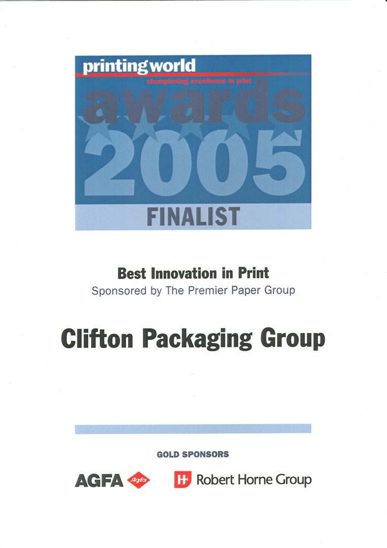 Printing World - Championing excellence in print Awards 2005