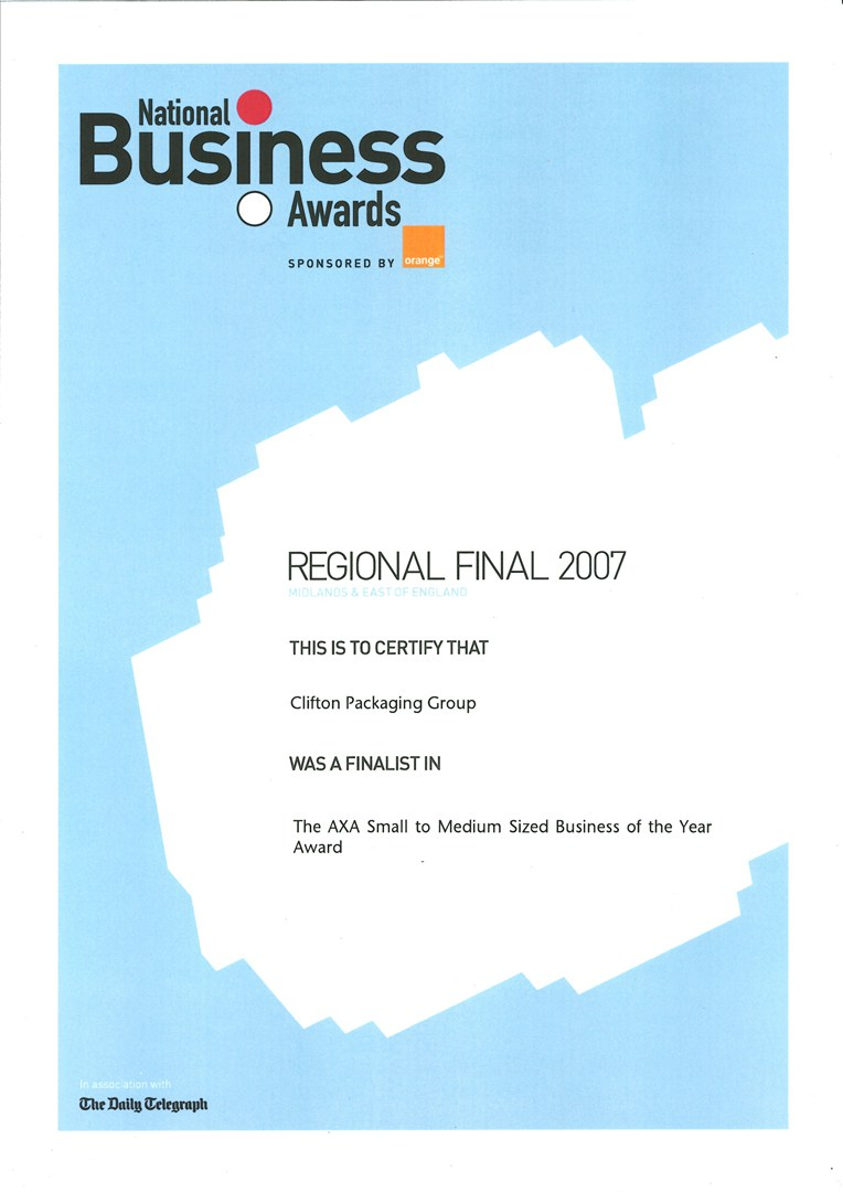 Regional Finals 2007 - The Business Innovation of the Year Award