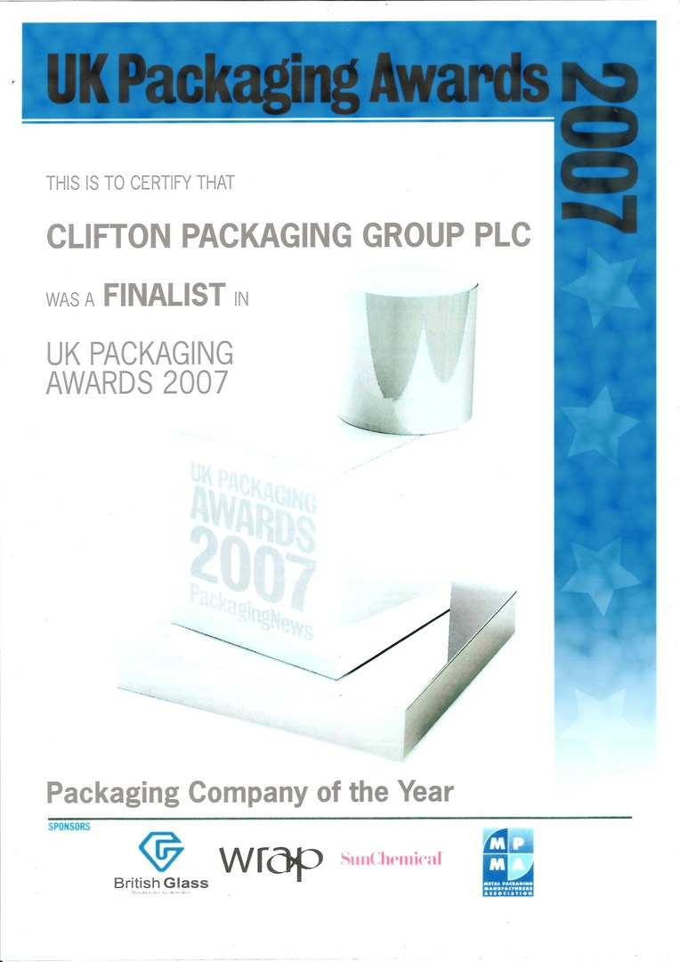 UK Packaging Awards 2007 - Packaging Company of the Year