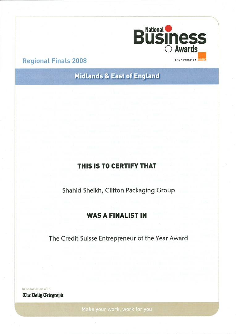 National Business Awards - Regional Finals 2008
