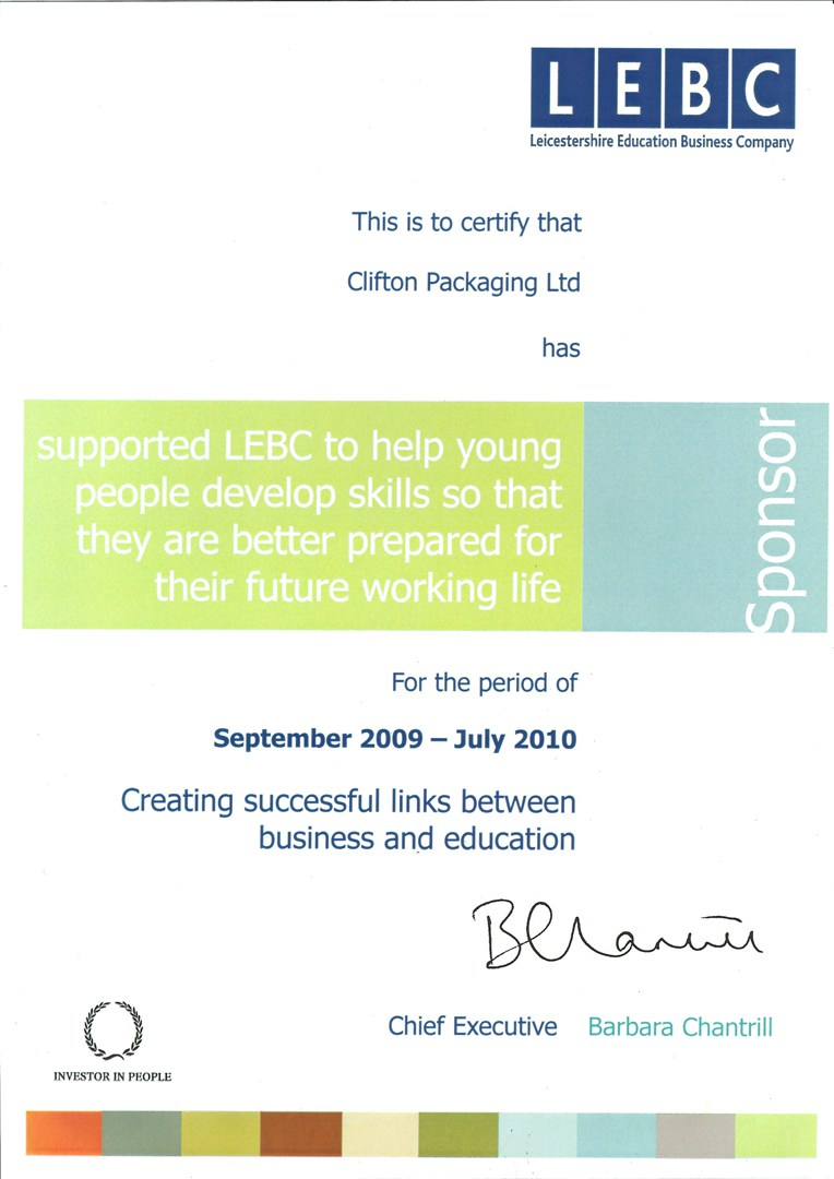 Certify supported LEBC to help young people