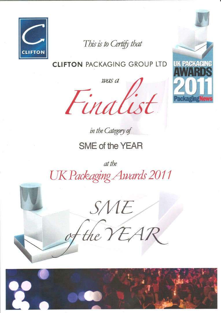 SME of the Year at the UK Packaging Awards 2011