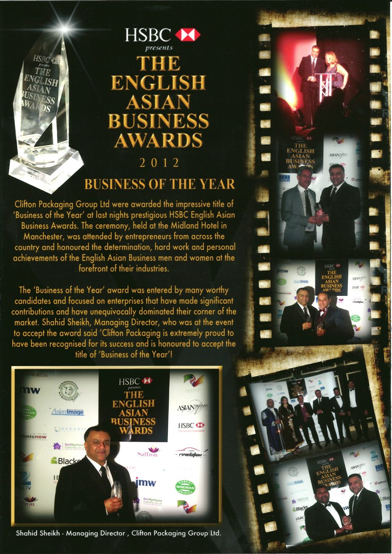 HSBC presents The English Asian Business Awards 2012