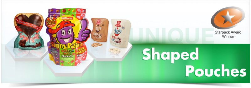 Shaped Pouches, Clifton Packaging Group LTD, flexible packaging