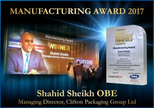 Manufacturing Awards 2017, Clifton Packaging Group Ltd.