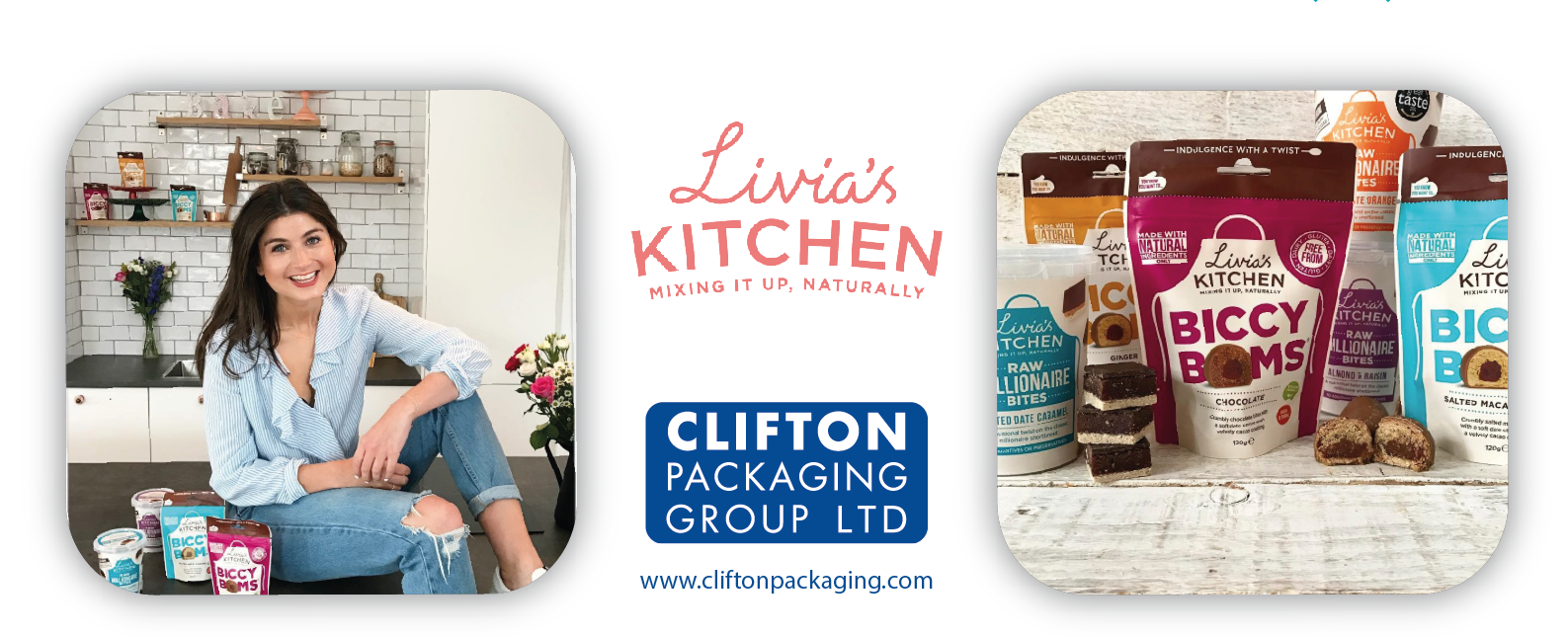 Livia's Kitchen, Clifton Packaging Group LTD. Flexible Packaging, Packaging