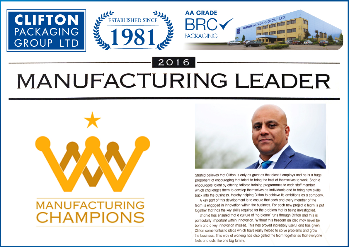 Manufacturing Champions, Clifton packaging, flexible packaging, packaing