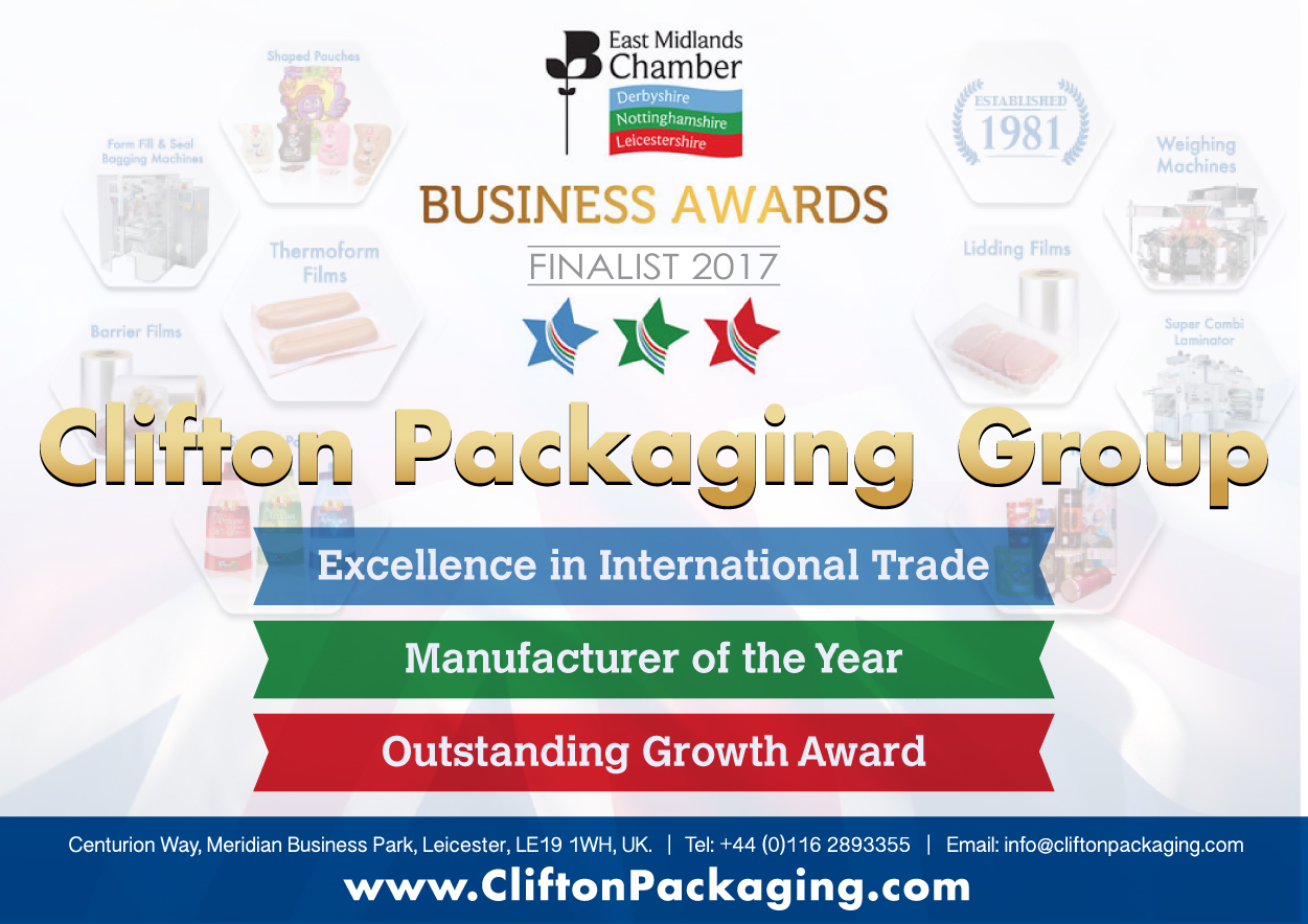 East Midlands Chamber Award 2017 Finalist, Shahid Sheikh OBE, Clifton Packaging