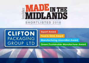insider Made in the Midlands 2018 - Shortlisted 2018