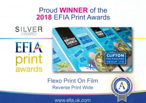 EFIA Print Awards 2018 - Silver Award - Flexo Print on Film Reverse Print Wide