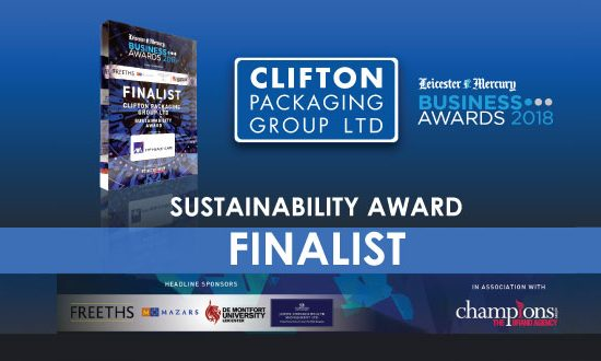 Leicester Mercury Business Awards 2018 - Sustainability Finalist