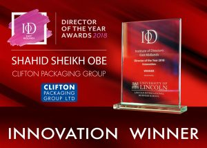 IoD - Director of the Year Awards 2018 - Innovation Winner