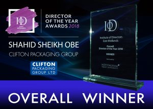 IoD - Director of the Year Awards 2018 - Overall Winner