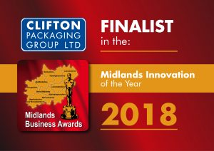 Clifton Packaging Group - Finalist in the Midlands Innovation of the Year 2018