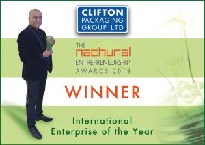 Clifton Packaging Group - Nachural Entrepreneuship Awards 2018 Winner
