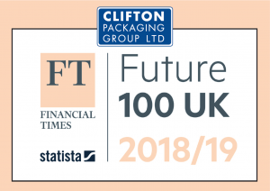 FT - Financial Times Future 100 UK 2018-19, Clifton Packaging Group