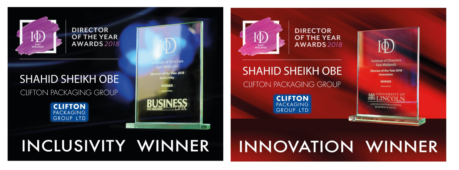 Shahid Sheikh OBE announced winner for IoD East Midlands 2018 Awards