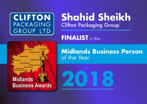 Shahid Sheikh OBE - Finalist in the Midlands Business Person of the Year 2018