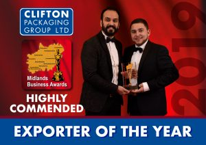 MBA Highly Commended 2019 - Exporter of the year
